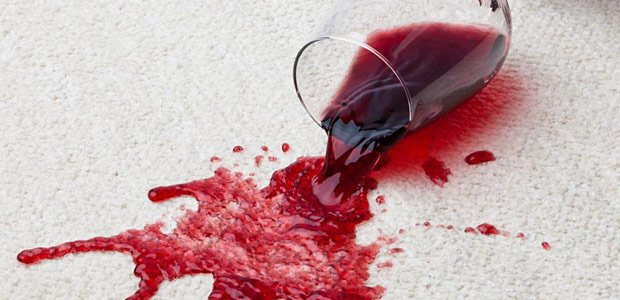 What to do if red wine is spilled on your carpet
